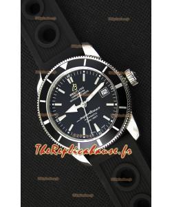 Montre Breitling SuperOcean HeritageII B20 42mm Suisse cadran noir Lunette noire Réplique à l'identique - 1:1 Édition miroir