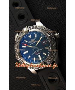 Breitling Avenger Noirbird 44 1:1 Montre Réplique Miroir avec des diamants