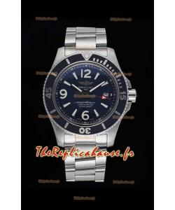 Breitling Superocean Automatic 44 Steel - Réplique de miroir 1:1 à cadran bleu marine