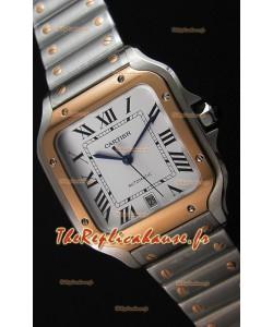 Cartier Santos De Cartier 1:1 Miroir Montre Réplique - 40MM acier et or bicolore