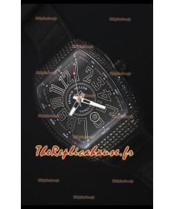 Franck Muller Vanguard Montre Réplique Suisse avec boîtier Revêtu en PVD