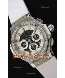 Montre Hublot Big Bang Diamonds suisse Réplique en acier à Lunette en diamants dans un boîtier en acier