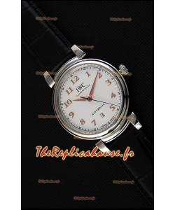 Montre IWC Schaffhausen DA VinciIW356601 Automatique Suisse, Cadran Blanc Répliquée à l'identique 1:1