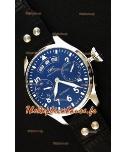 Montre IWC Big Pilot Annual CalendarIW502702 Spitfire Suisse Cadran Bleu Répliquée à l'identique 1:1