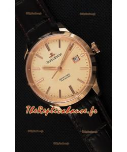 Montre Jaeger LeCoultre Geophysic True Second Suisse Couleur Rose Or , Cadran Or