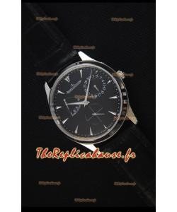Jaeger-LeCoultre Master Ultra Thin Réserve De Marche, Cadran Noir Montre Réplique Miroir 1:1