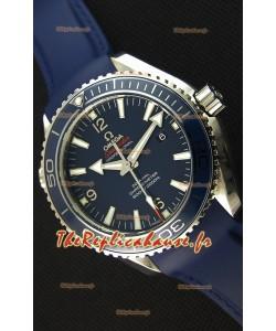 Montre Omega Seamaster Planet Ocean 45mm Suisse Bracelet Bleu, Édition Ultime, Répliquée à l'identique 1:1