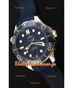 Omega Seamaster 300M Co-Axial Master chronomètre Bleu Suisse 1:1 Montre Réplique Miroir
