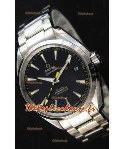 Omega Master Co-Axial Aqua Terra 15,000 Gauss cadran noir 1:1 Miroir Réplique Suisse