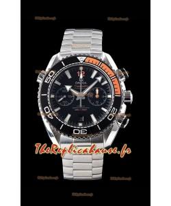 Omega Planet Ocean 600M Chronographe 904L Montre à miroir 1:1 en acier