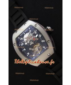 Montre Richard MilleRM001 Evolution Tourbillon Suisse avec Etui en satin mat sablé avec perles Répliquée