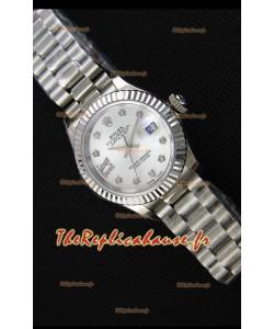 Montre Rolex Datejust Ladies Star Marqueurs d'Heure en Strass Suisse MouvementCAL.2236 Répliquée à l'identique 1:1
