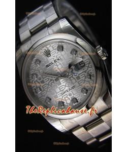 Montre Rolex Datejust 36mmCal.3135 Mouvement Suisse à Cadran en acier blanc Répliquée