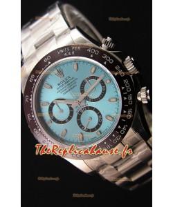 Montre Rolex Cosmograph Daytona 116506 Cadran Bleu glacé Mouvement OriginalCal.4130 — Montre en acier ultime 904L