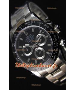 Montre Rolex Cosmograph Daytona116500LN Cadran Noir Mouvement Original Cal.4130 — Montre en acier ultime 904L