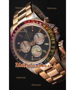Montre Rolex Cosmograph Daytona116595RBOW Rverose MouvementCal.4130 Répliquée à l'identique 1:1