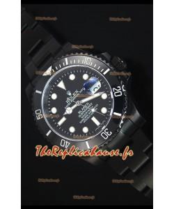 Reproduction de Montre Suisse en PVD Rolex Submariner Blaken