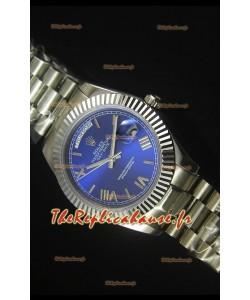 Reproduction de Montre avec Cadran Bleu Foncé Rolex Day Date 40MM – Mouvement Suisse 3255