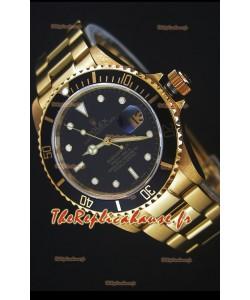 Rolex Submariner 16618 Montre Réplique 1:1 en Or avec Mouvement Suisse 3135