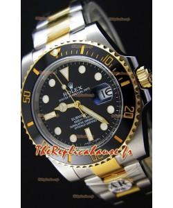 Rolex Submariner Date Céramique acier et or bicolore 116613 - Réplique 1:1 Miroir - Ultime Acier 904L