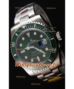 Rolex Submariner The Hulk ETA 3135 Réplique Suisse 1:1 Miroir - Ultime Acier 904L