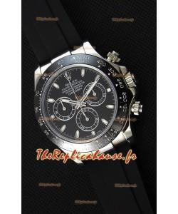 Rolex Cosmograph Daytona cadran noir Mouvement Original Cal.4130- Montre Ultime Acier 904L