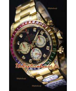 Rolex Cosmograph Daytona 116598 Or Jaune 1:1 Miroir Cal.4130 Mouvement - Montre Ultime Acier 904L