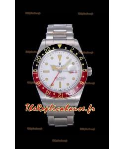 Rolex GMT Master ALBINO Edition Vintage Swiss Watch en cadran blanc