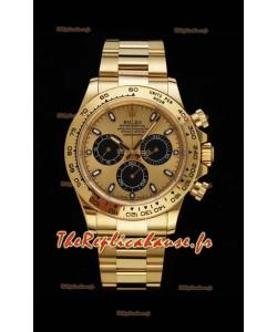 Rolex Daytona 116508 Or jaune Original Cal.4130 Mouvement - Montre en acier 904L à miroir 1:1