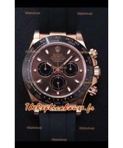 Rolex Daytona 116515LN-0041 Everose Gold Original Cal.4130 Mouvement - Montre en acier 904L à miroir 1:1