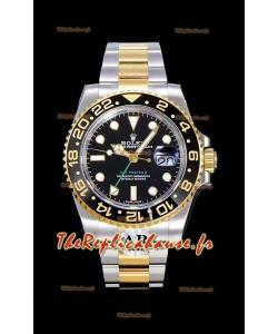 Rolex GMT Masters II 116713 or jaune Réplique suisse 1:1 Montre miroir 904L acier