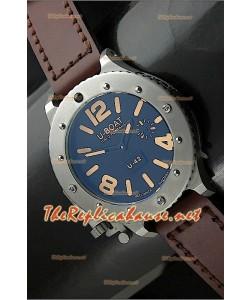 U Boat U-42 Diver Staenless l'acier Montre Suisse - Orange Markers