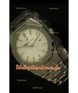Réplique de montre Royal Oak Audemars Piguet pour femmes avec un cadran blanc de 33mm - Édition Réplique miroir 1:1