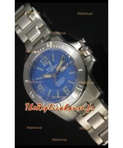 Réplique de montre automatique Ball Hydrocarbone Spacemaster sur cadran bleu avec date du jour - mouvement Citizen original