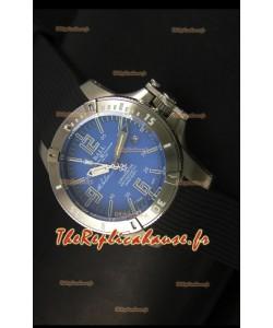 Ball Hydrocarbone Spacemaster automatique avec bracelet en caoutchouc sur cadran bleu - mouvement Citizen original
