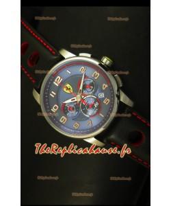 Montre chronographe Scuderia Ferrari Heritage avec cadran bleu