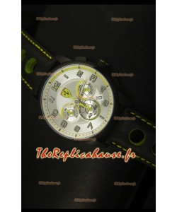 Montre chronographe Scuderia Ferrari Heritage SF107 en acier noir