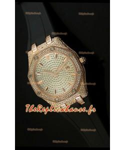 Réplique de montre Audemars Piguet Royal Oak LADY Édition cadran en diamants