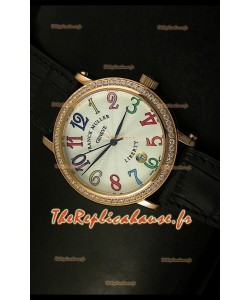 Montre japonaise Franck Muller Master of Complications Liberty avec bracelet noir