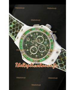 Montre Hublot Big Bang BOA Bang avec cadran/bracelet vert 34mm