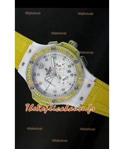 Édition Tutti Frutti pour femmes Hublot Big Bang 34MM avec bracelet jaune