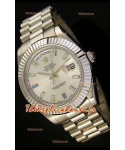 Réplique de montre suisse Rolex Day Date II 41MM - Cadran acier - Réplique de montre miroir 1:1