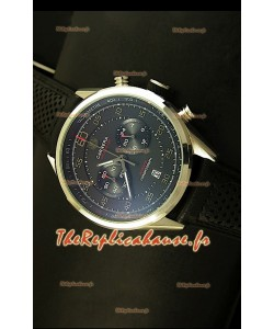 Réplique de montre Tag Heuer Carrera Calibre 36 Flyback avec cadran noir - Mouvement Quartz