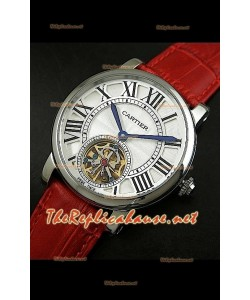 Cartier Calibre Japanese Tourbillon Montre Bracelet Rouge