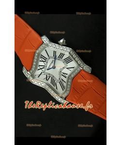 Cartier Tank Folle Reproduction Montre Pour Femme avec Boitier en Acier/Bracelet Orange