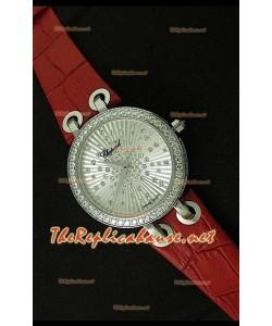 Chopard Xtraveganza Femmes Montre avec Bracelet Marron Boîtier Garnis de Diamants