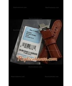 Authentique Bracelet Panerai en cuir de Crocodile noir