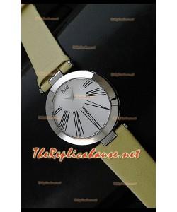 Piaget Altiplano Dial Time Swiss Quartz Montre avec Bracelet Cuir Jaune