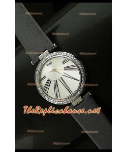 Piaget Altiplano Dial Time Swiss Quartz Montre avec Bracelet Cuir Gris