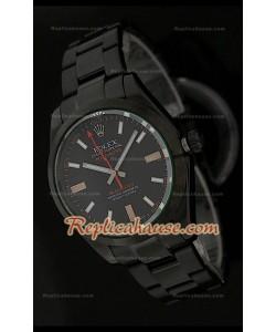 Rolex Replica Milgauss Blackout Edition Swiss Montre avec Cadran Noir